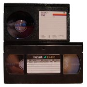 Betamax and VHS videotapes