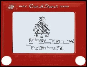 Etch-A-Sketch Christmas Message