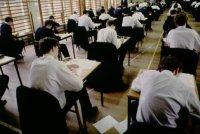 Kids taking exams