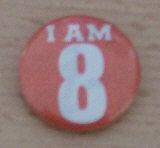 I am 8 badge