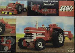lego expert builder red tractor