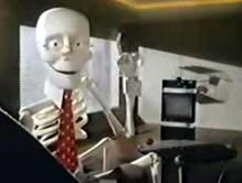 scotch videotape skeleton